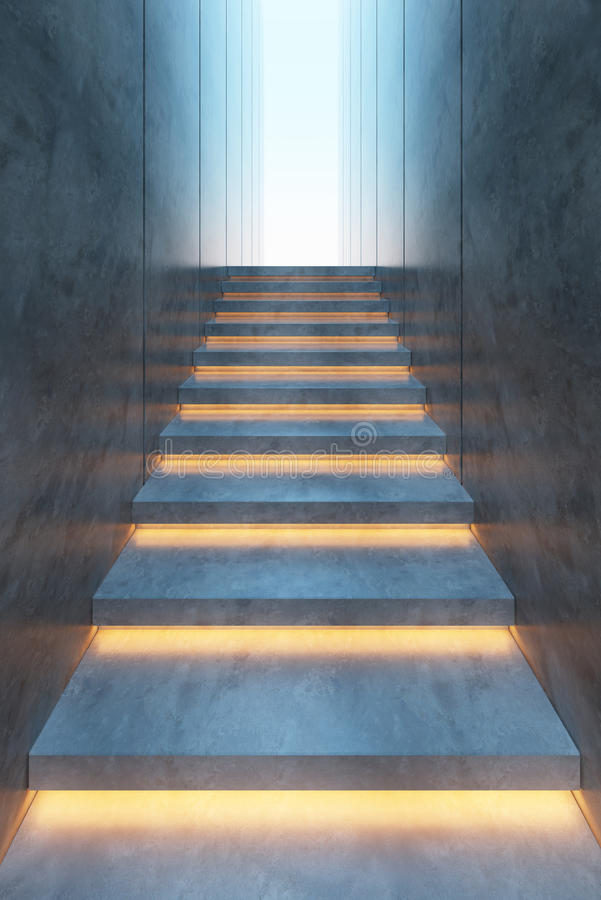 Download Illuminated Stairs Stock Photo. Image Of Minimal, Concrete    31620400