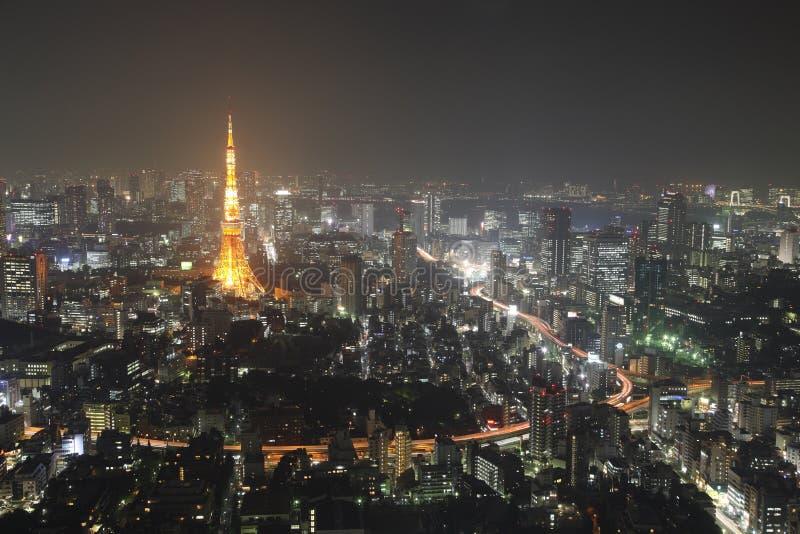 Illuminated Tokyo City royalty free stock images