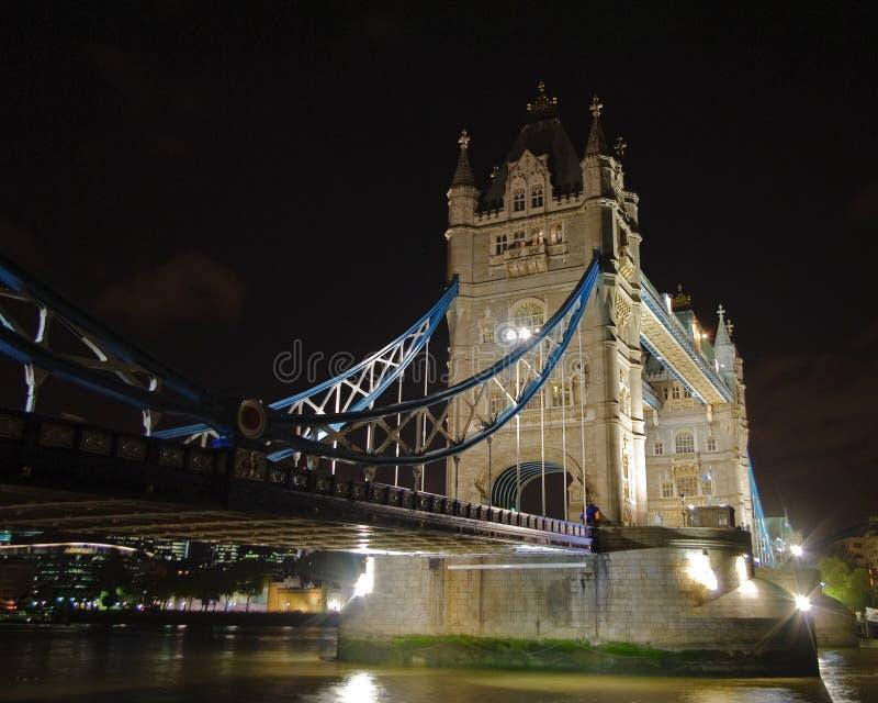 Illuminated Tower Bridge at night 3 stock image