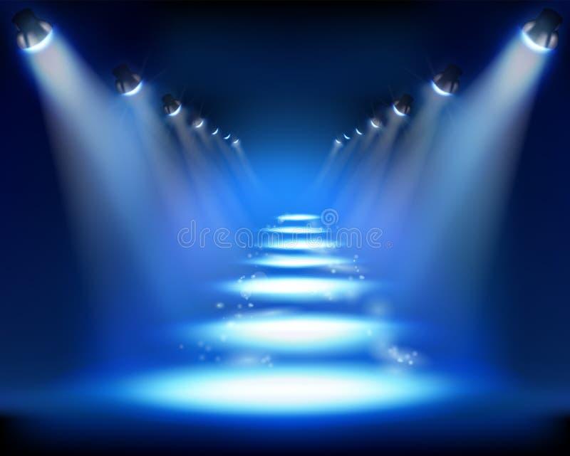 Download Illuminated way. stock vector. Illustration of scene - 26952771