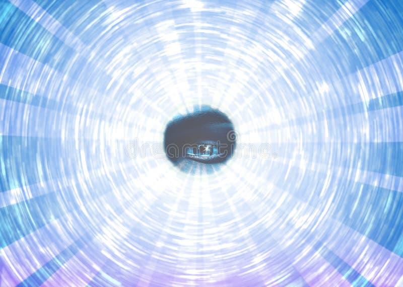 Illuminati полностью видя предпосылка глаза иллюстрация штока