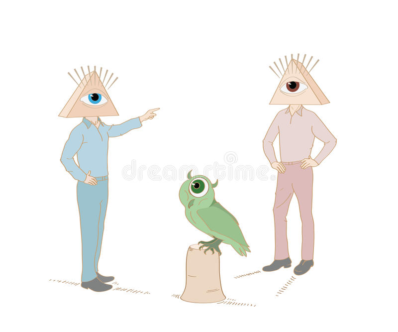 Illuminati stock illustrationer