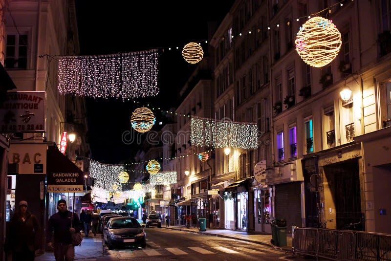 Illumination de Noël à Paris photo libre de droits