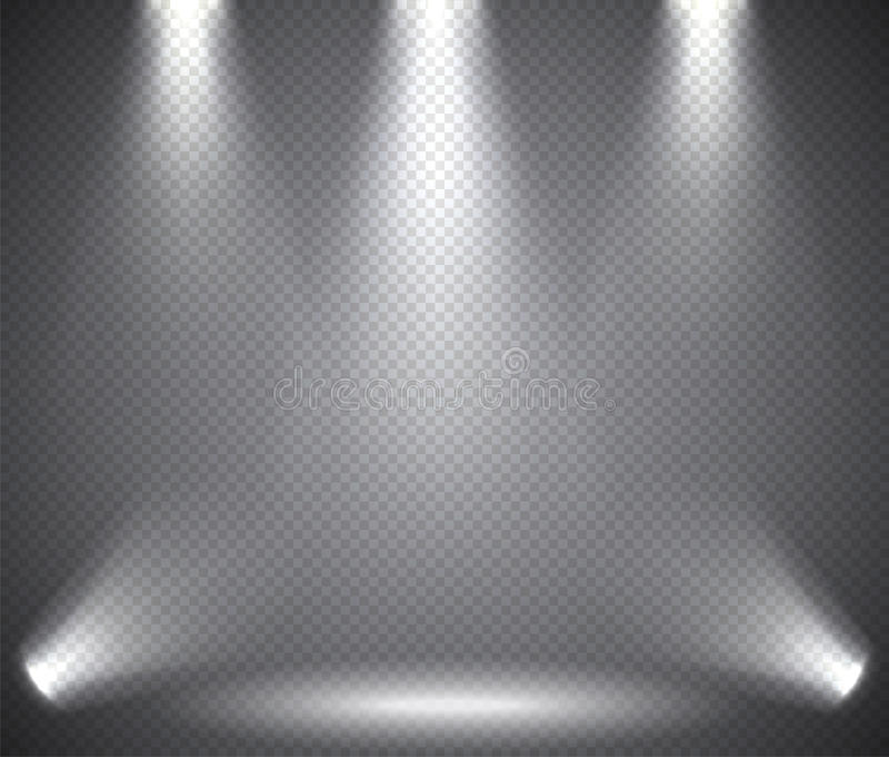 Illumination de scène de au-dessus et au-dessous de, effets transparents sur un fond d'obscurité de plaid illustration de vecteur