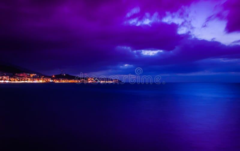 Illumination insulaire d'Evenfall de paysage images libres de droits