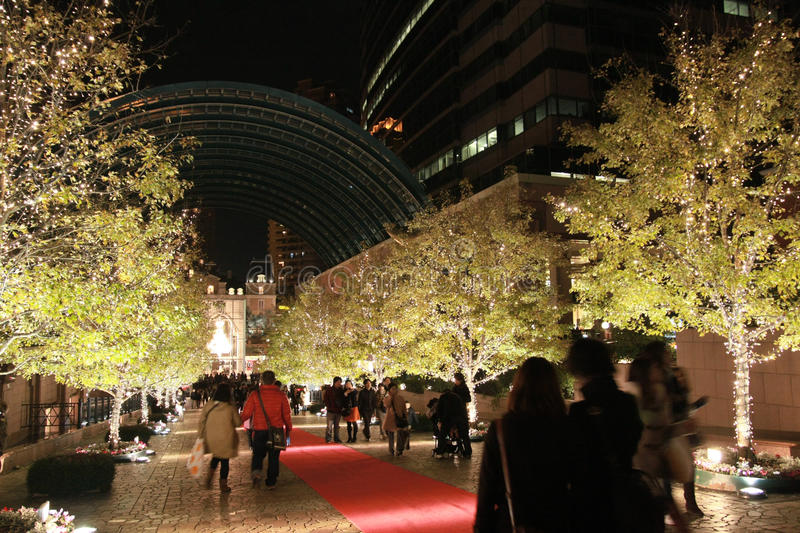 Download Illumination Light Decorating On The Tree In The Winter At Ebisu, Tokyo, Japan Editorial Photography - Image: 31665277