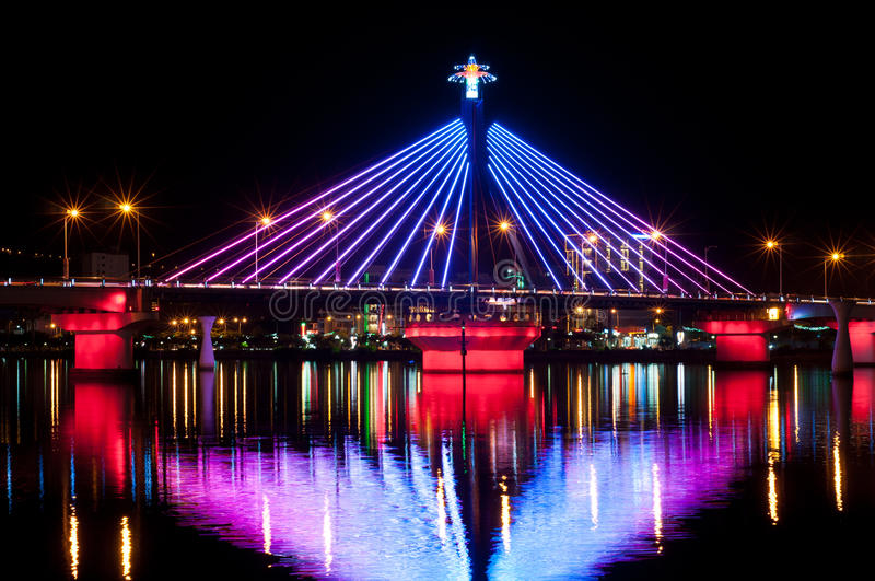 Download Illumination At Song Han Bridge Stock Photo - Image of blue, cultural: 25389162