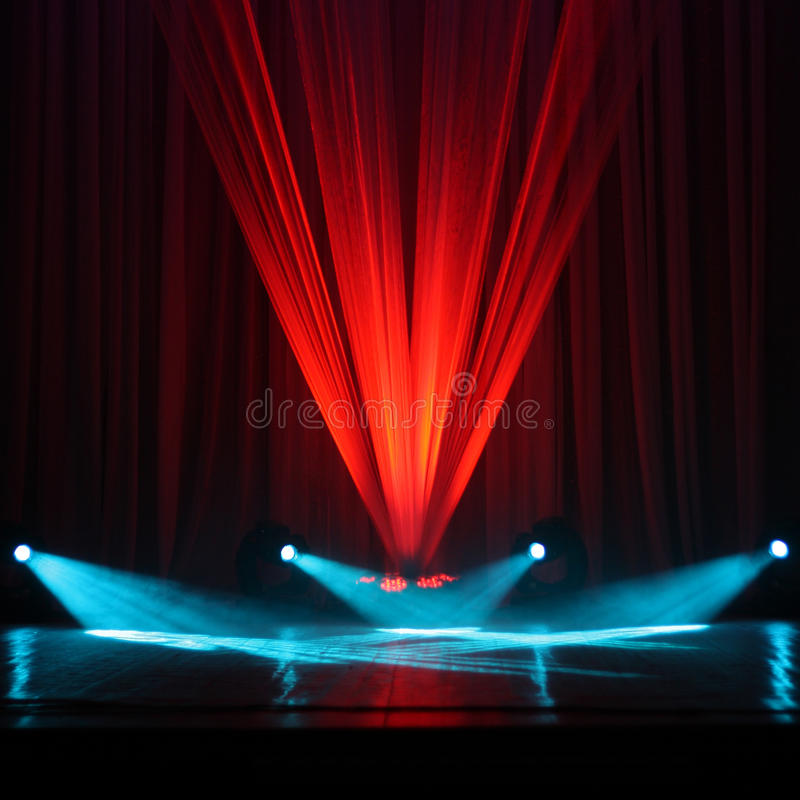 Illumination of a stage. During a concert royalty free stock photo