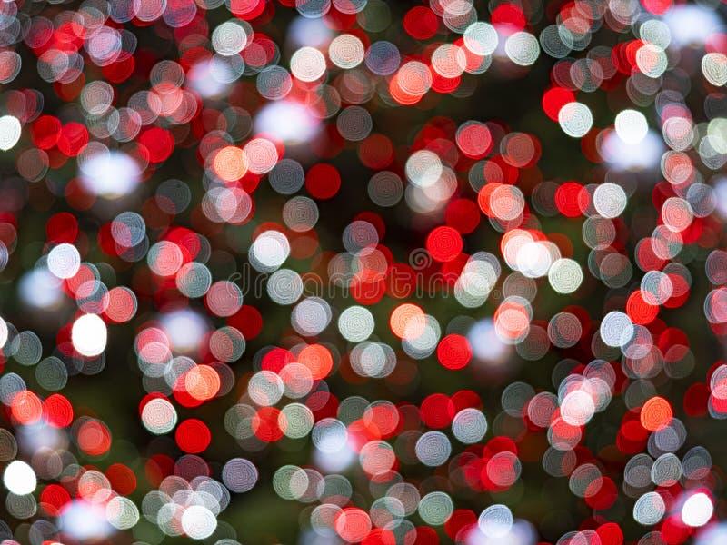 Illuminations de noël non ciblées image de fond en couleur photo stock