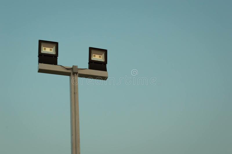 Illuminations electronic pole royalty free stock photography