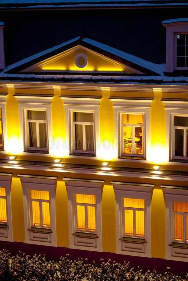 Download Illuminations at night stock image. Image of hotel, historic - 8243595