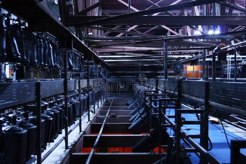 Illuminazione ambientale della fase del teatro fotografia stock libera da diritti