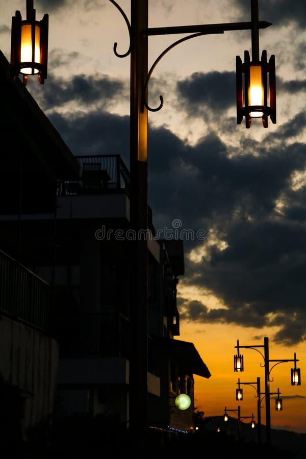 Illuminazione a ChiangKan Loei Tailandia fotografie stock libere da diritti