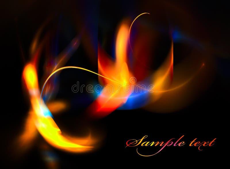 Illuminazione colorata su fondo nero illustrazione vettoriale