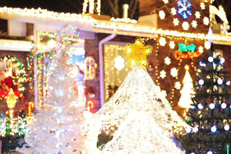 Download Illuminazione Dell'albero Di Natale Fotografia Stock - Immagine di estratto, colorful: 7311480