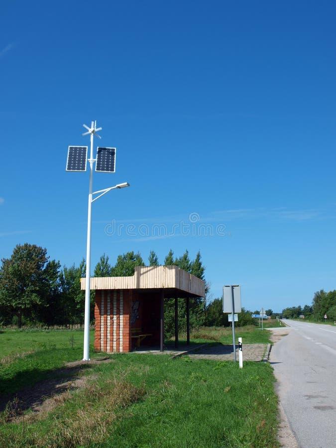 Illuminazione della fermata dell'autobus fotografia stock