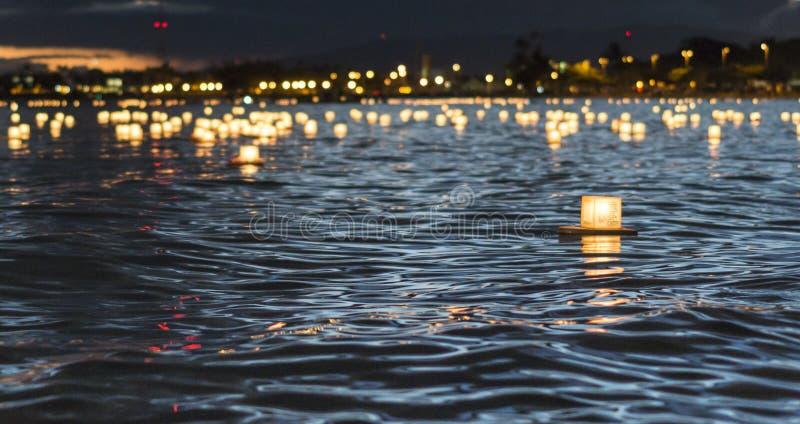 Illuminazione della lanterna di Memorial Day fotografia stock