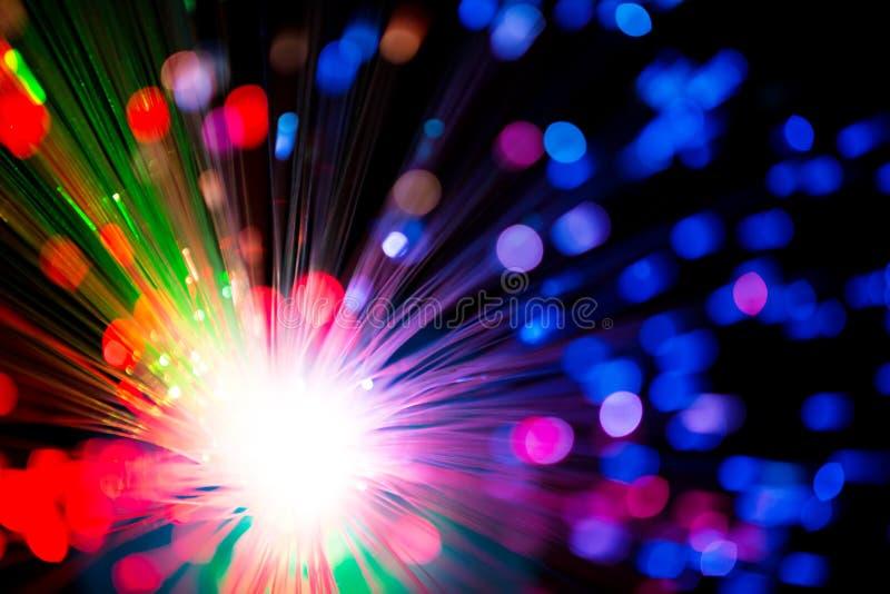 Illuminazione di fibra ottica multicolore fotografie stock