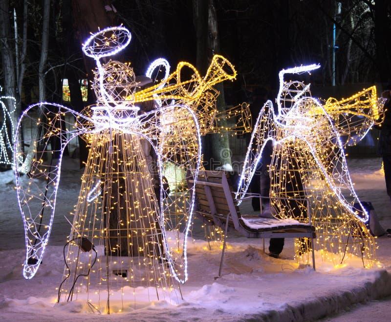 Illuminazione di Natale fotografie stock libere da diritti