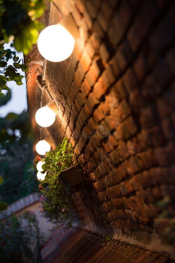 Illuminazione di notte fotografia stock