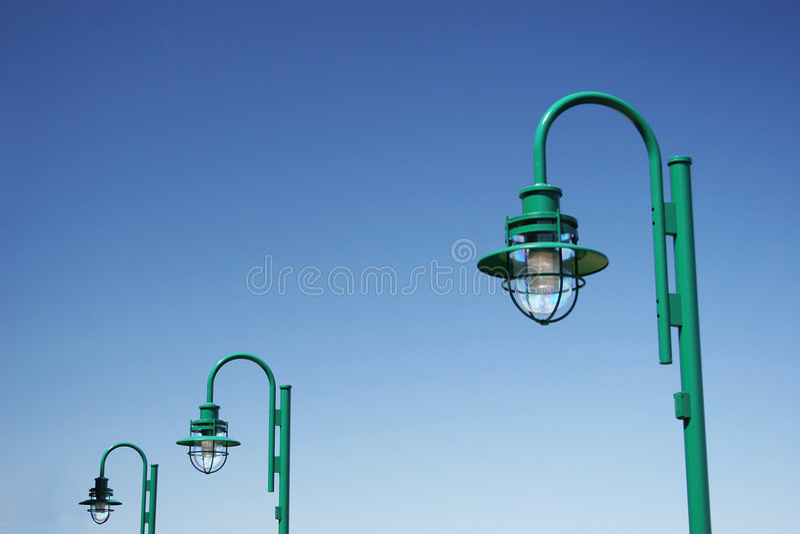 Illuminazione di Oudoor fotografie stock libere da diritti
