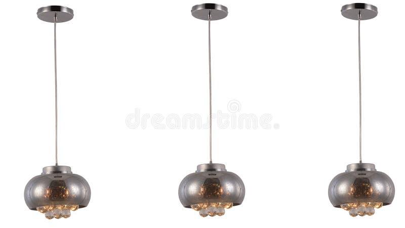 Illuminazione di soffitto principale moderna del candeliere a cristallo immagini stock libere da diritti