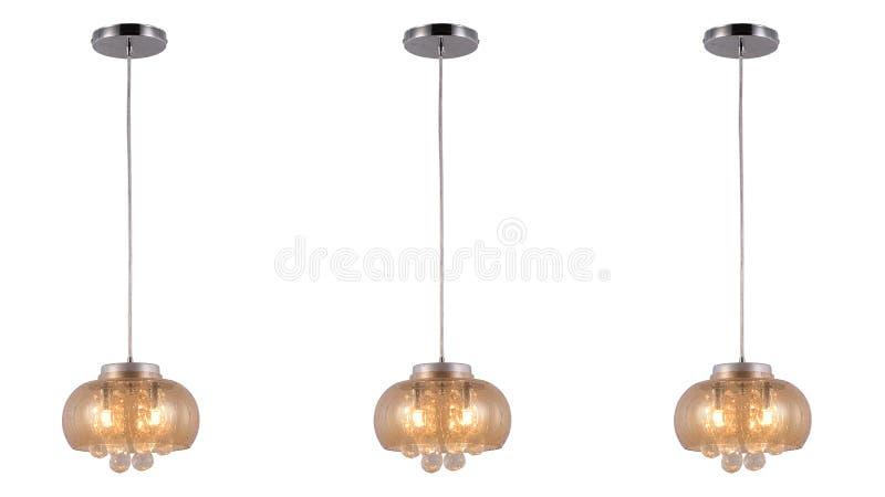 Illuminazione di soffitto principale moderna del candeliere a cristallo fotografia stock libera da diritti
