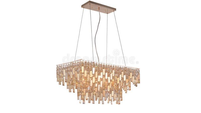 Illuminazione di soffitto principale moderna del candeliere a cristallo immagini stock