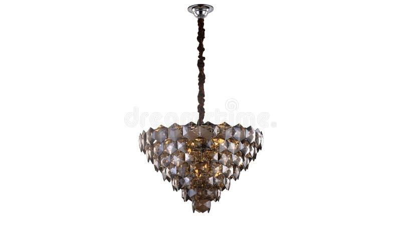 Illuminazione di soffitto principale moderna del candeliere a cristallo fotografia stock
