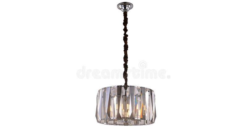Illuminazione di soffitto principale moderna del candeliere a cristallo immagine stock