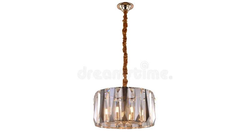 Illuminazione di soffitto principale moderna del candeliere a cristallo fotografie stock