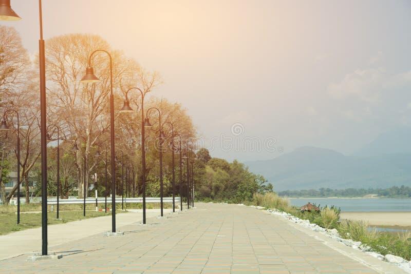 Illuminazione differente sul passaggio pedonale fotografia stock