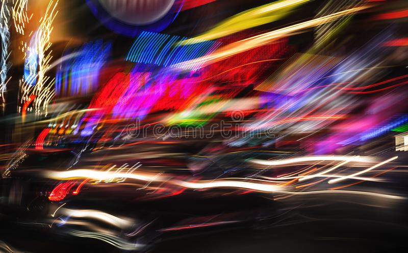 Illuminazione e luci notturne di New York fotografie stock