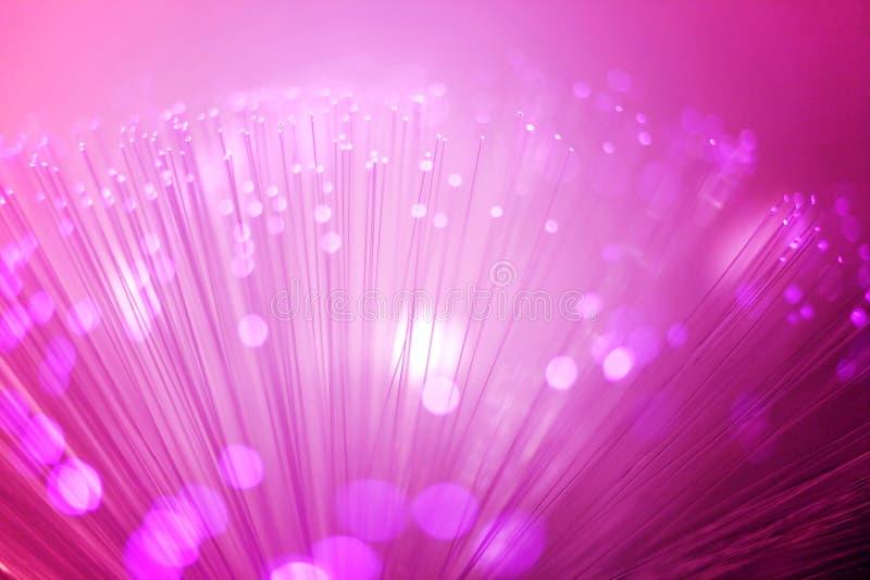 Illuminazione a fibra ottica porpora fotografia stock