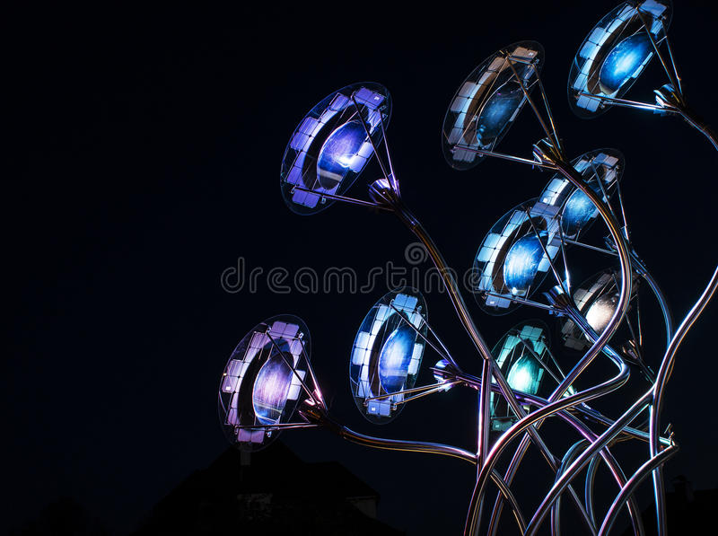 Illuminazione variopinta 003-130508 fotografia stock libera da diritti