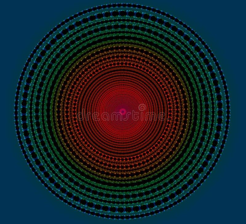 Illuminez le cercle foncé illustration stock