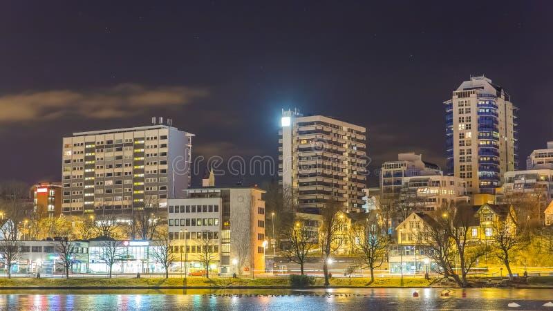 Illumini la città fotografia stock