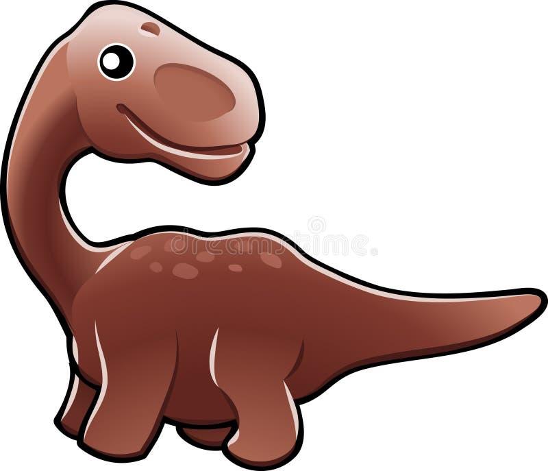 Illus bonito do dinossauro do diplodocus ilustração stock