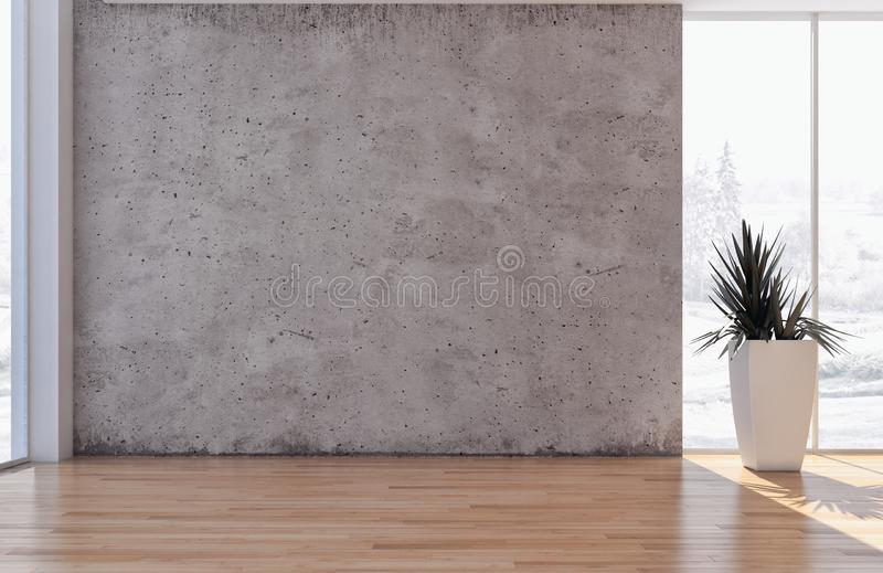 Illus brillante moderno de lujo grande de la sala de estar del apartamento de los interiores fotografía de archivo libre de regalías
