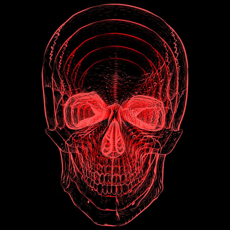 illusie Elektroschedel vector illustratie