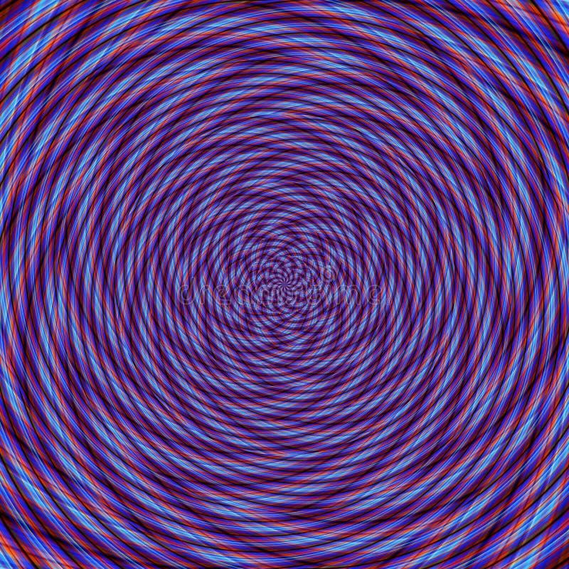Illusion background spiral pattern zig-zag, curves vector illustration