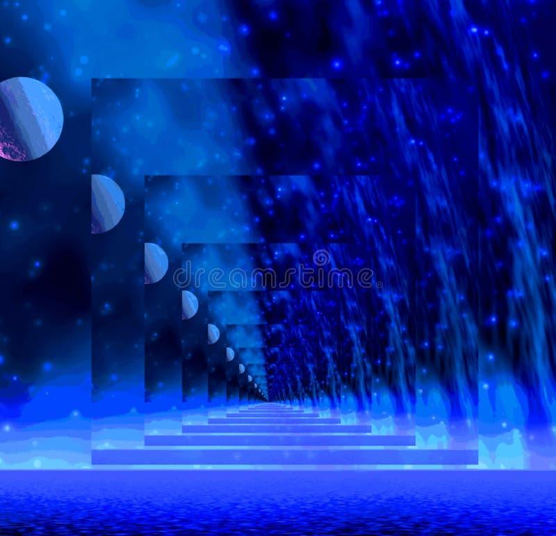 Illusion bleue illustration stock