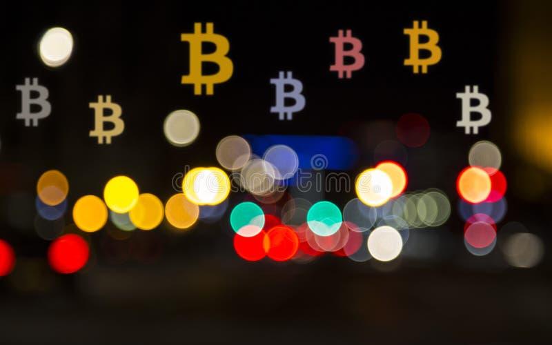 Illusion de Bitcoin photos libres de droits