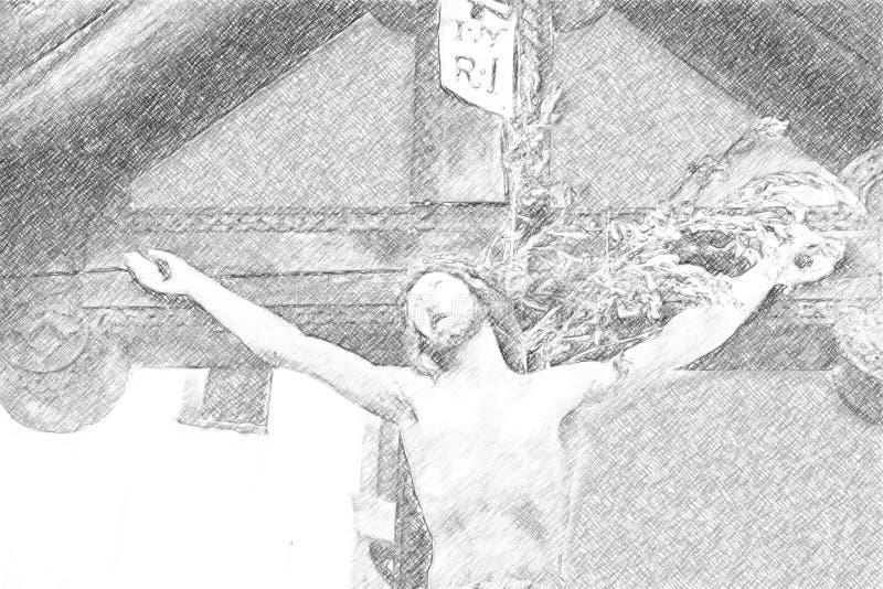 Illusion de crucifixion de Jesus Christ photos stock