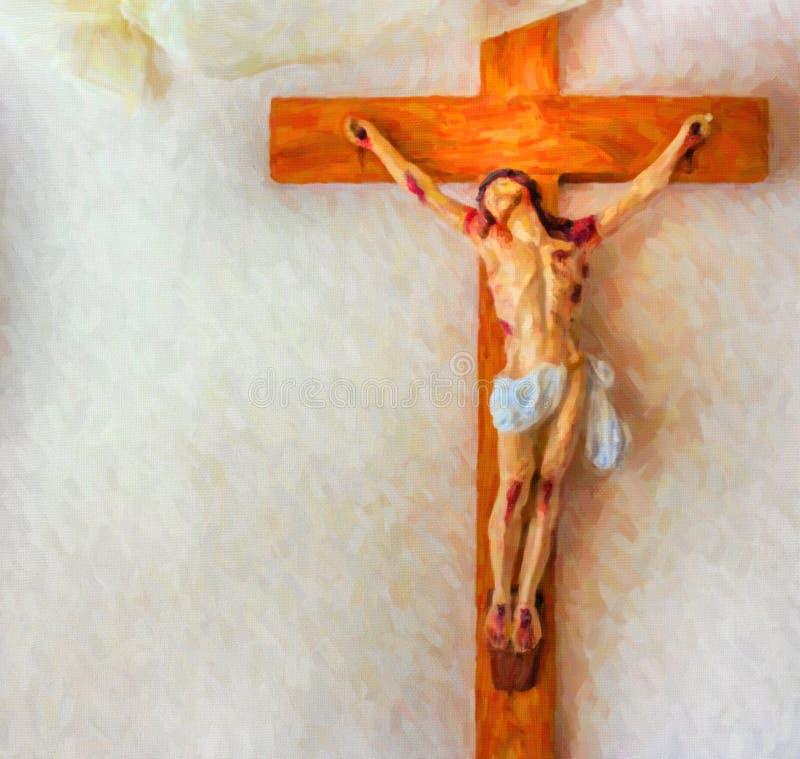Illusion de la crucifixion de Jesus Christ photos stock