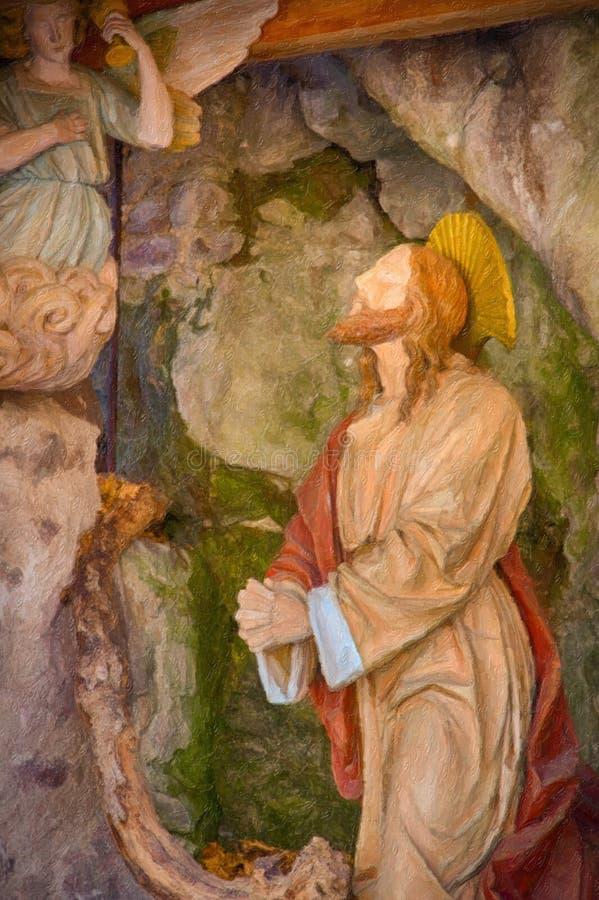 Illusion de la prière de Jesus Christ photo stock