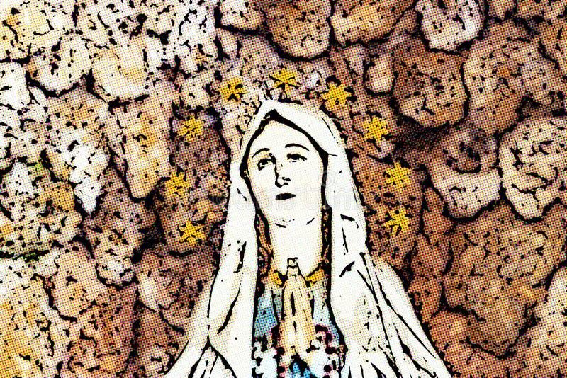 Illusion de Vierge Marie béni image libre de droits