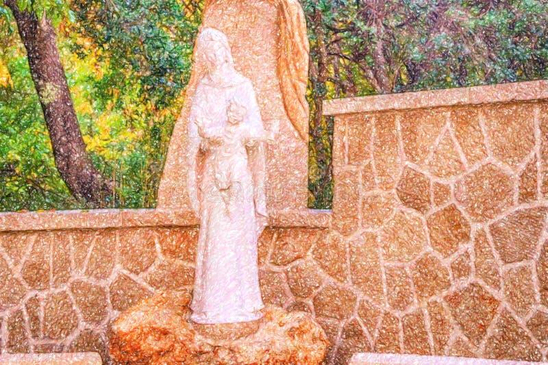Illusion de Vierge Marie b?ni avec le b?b? J?sus photographie stock libre de droits