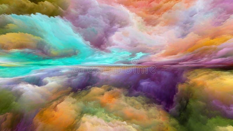 Illusion der abstrakten Landschaft lizenzfreie abbildung