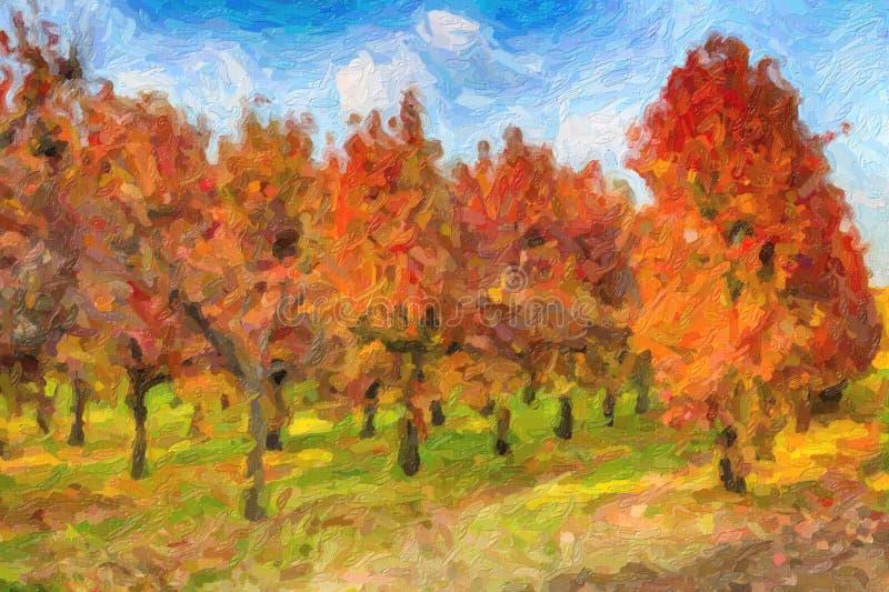 Illusion des arbres de kaki dans les dossiers réguliers photo libre de droits